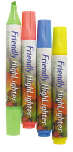 Friendly Highlighter Markers (image)
